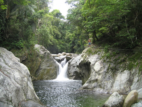 Flowing towards the Caribbean, creeks and rivers like this one are common in the heart of Central America's Caribbean