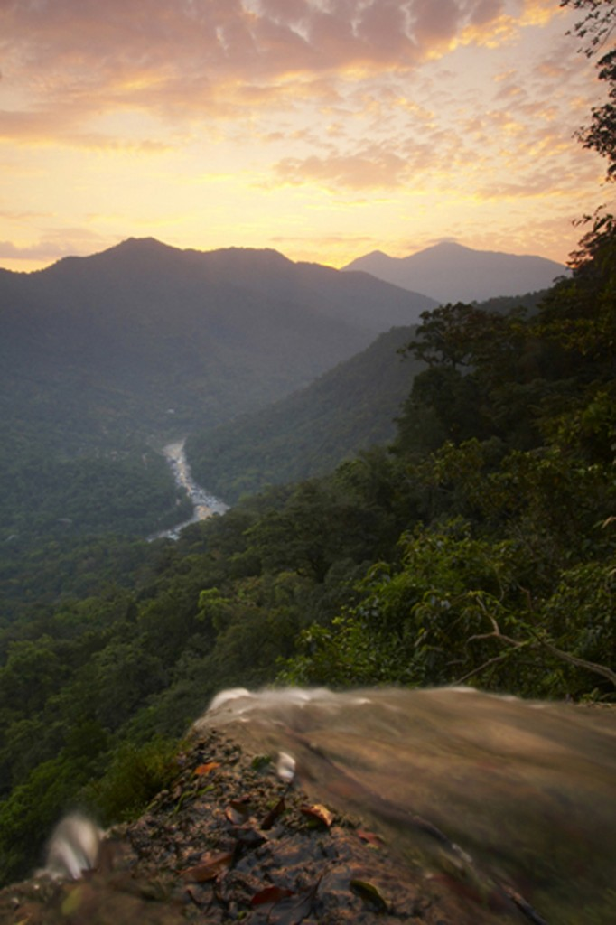 Daybreak at the Cangrejal River Valley as seen from El Bejuco Waterfall