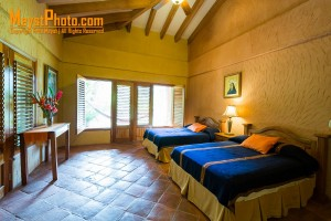 Comfortable, spacious rooms at La Villa de Soledad, the boutique jungle eco lodge in the Cangrejal River Valley