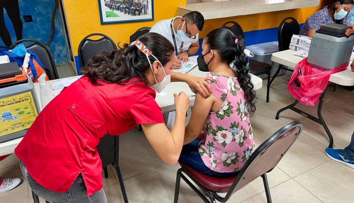Staff at La Villa de Soledad are vaccinated against COVID 19